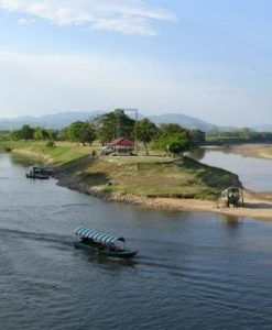 View on Mekong River Golden Triangle Tour