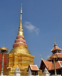Authentic Lanna tour Chedi of temple Wat Pong Sanuk during Explore Lampang tour