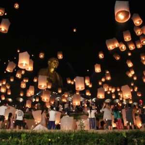 Chiang Mai Loy Krathong Classic Tour Sky lanterns at Doi Ti Things to do in Chiang Mai