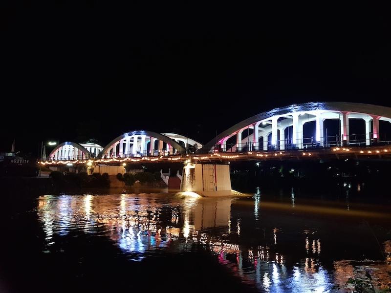 classic bridge by night