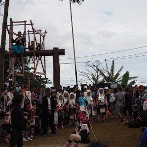 Akha Swing Festival Akha watching