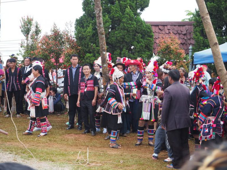 Akha Swing Festival Akha visitors