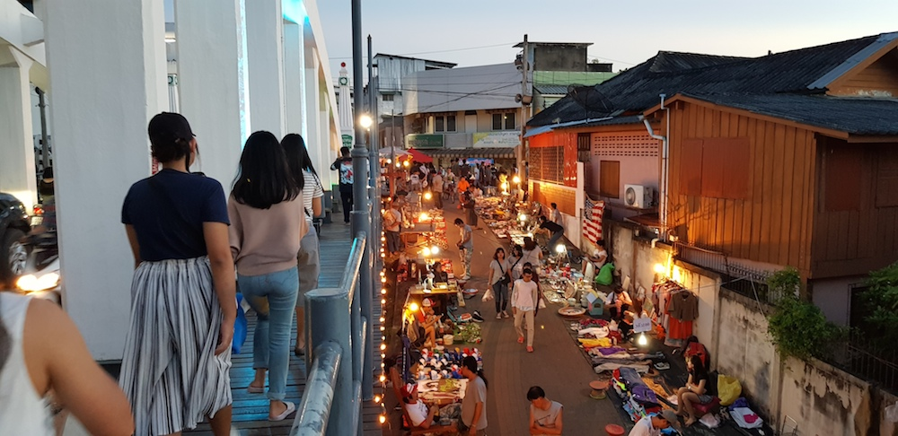 View from the bridge on Walking street