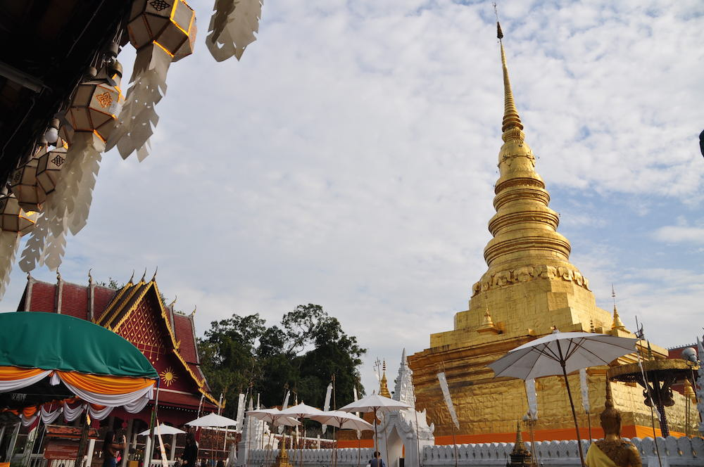The chedi of Wat Phra That Chae Haeng in Nan