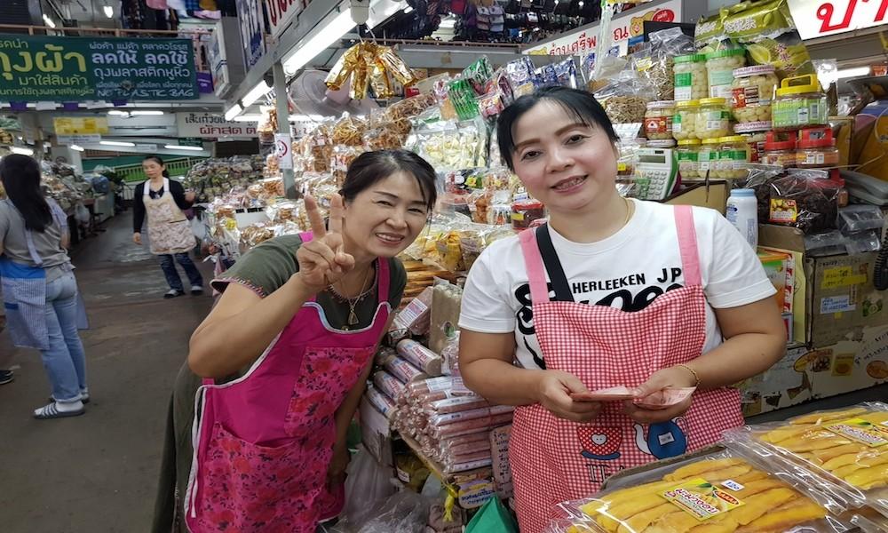 Two female Warorot Market sellers