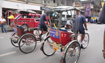Two Samlors on Thapae Road Chiang Mai