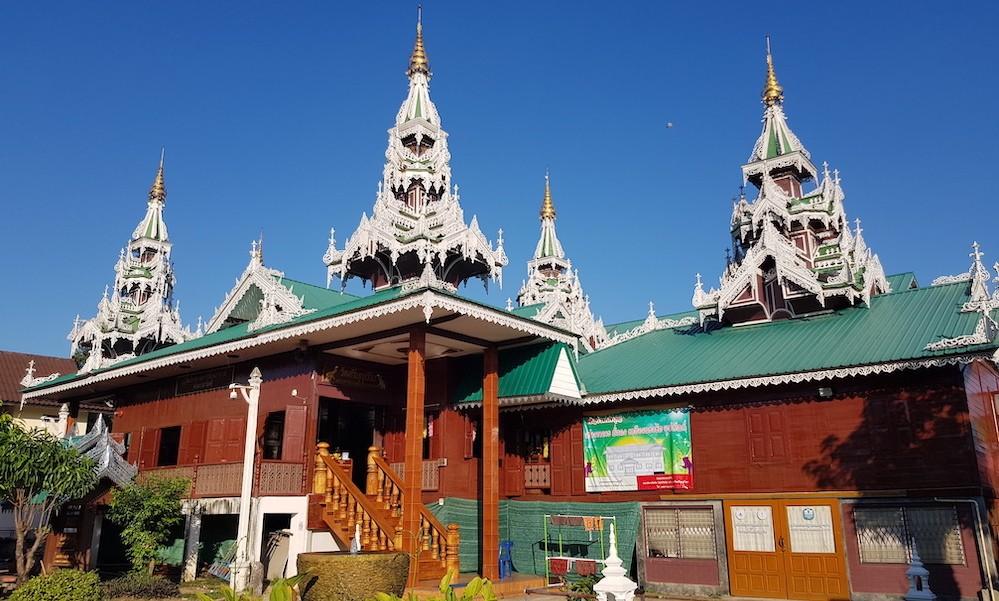 Shan style Sala of Wat Sribunreuang Mae Sariang