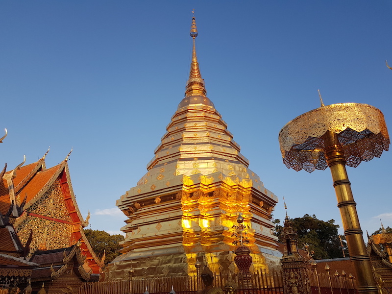 Golden chedi of Buddhist temple