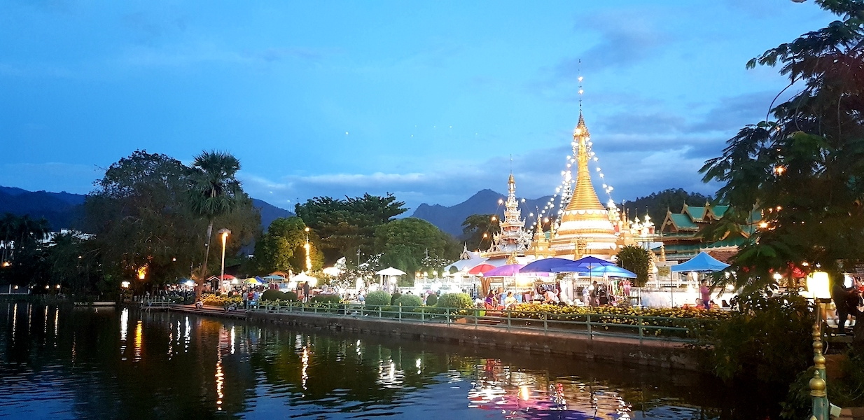 Buddhist temples on the lake