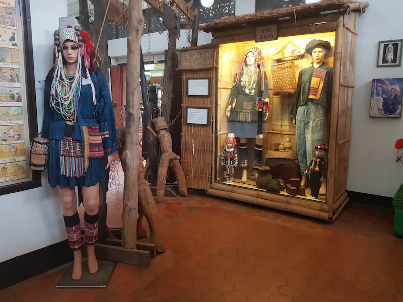 Tribal dolls in a museum