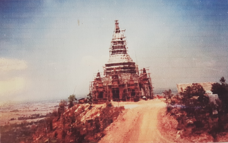 Temple tower under construction