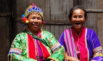 two women in tribal dress