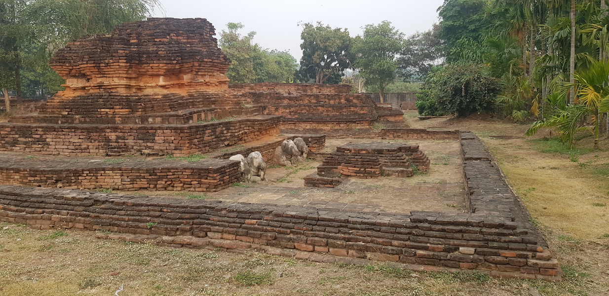 Ancient ruin with elephants