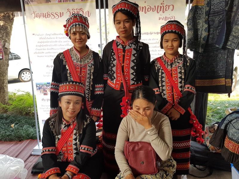 Girls in tribal dress