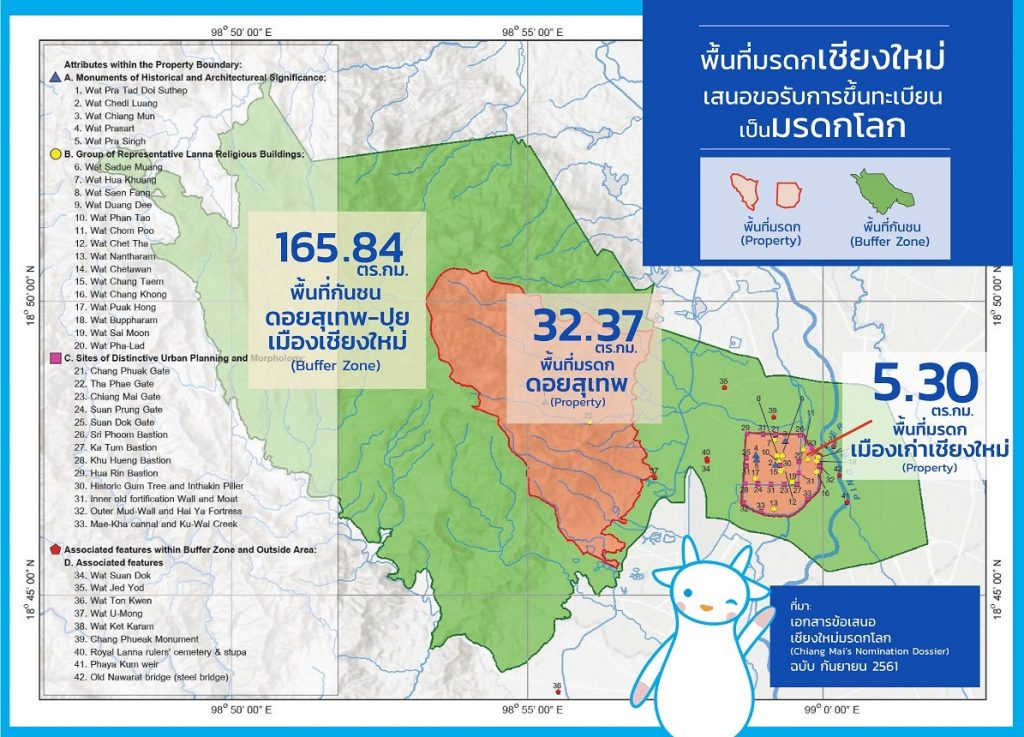 Map in Thai and English