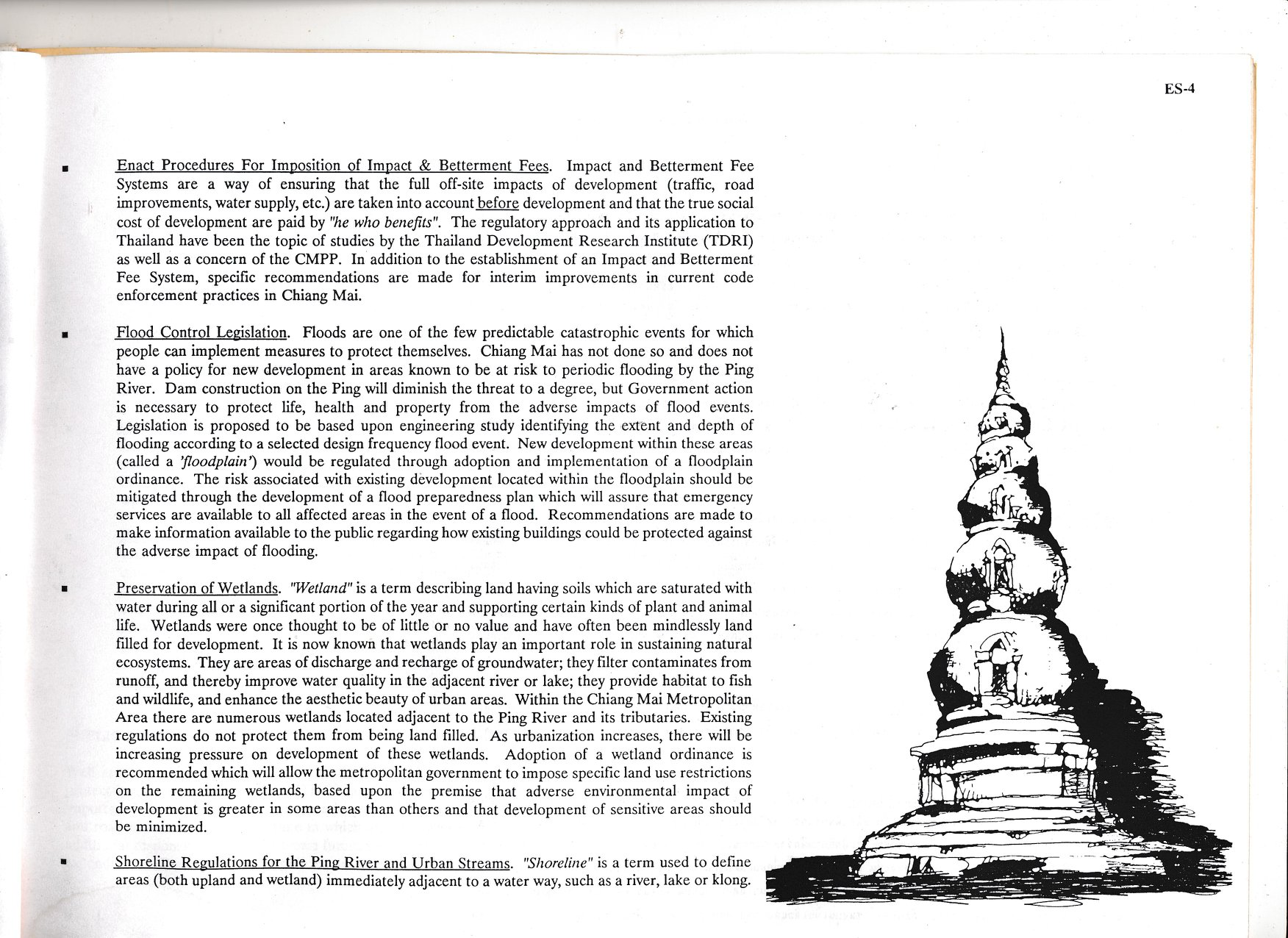 Page 4 of the Chiang Mai Policy-Based Action Plan for historic and environmental preservation
