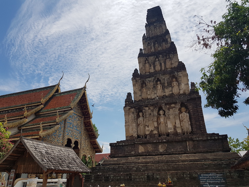 Old chedi and temple