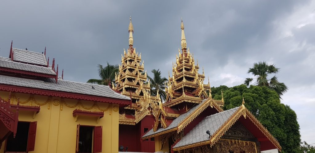 Burmese temple roof