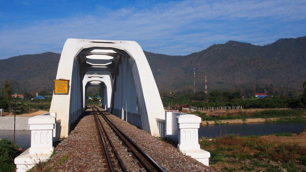 White railway bridge Thailand Railway Journeys