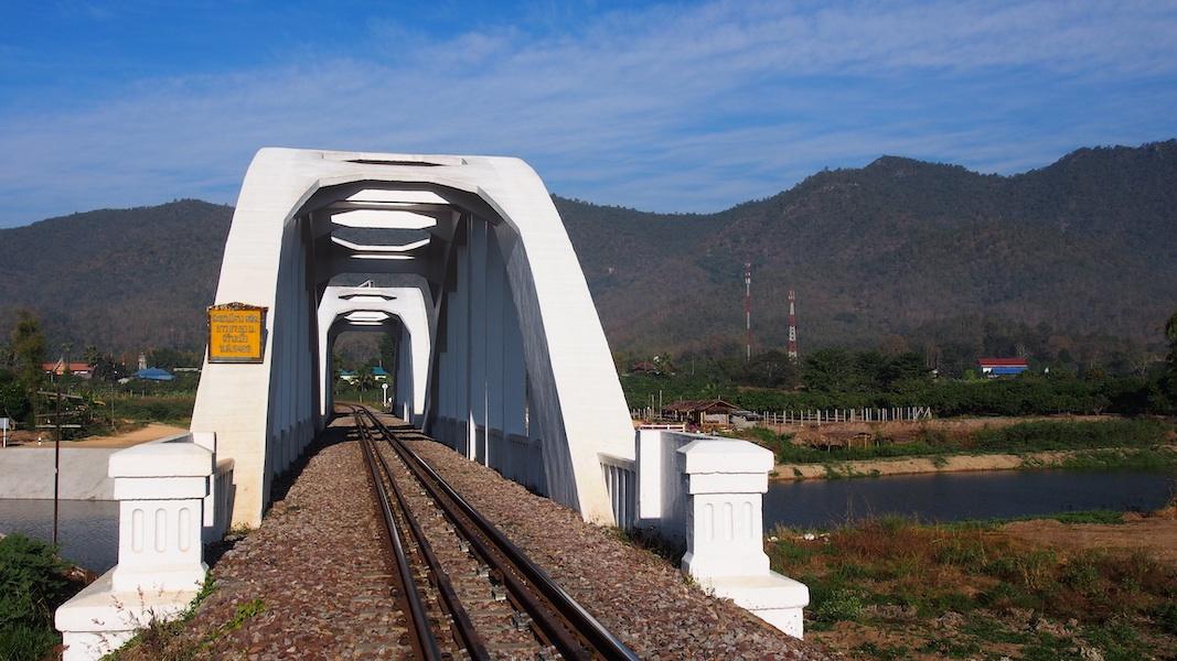 White railway bridge