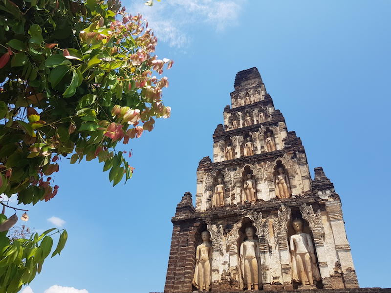 Chedi with tree
