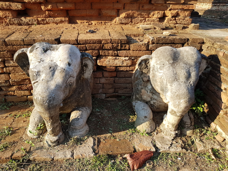 Old elephant statues