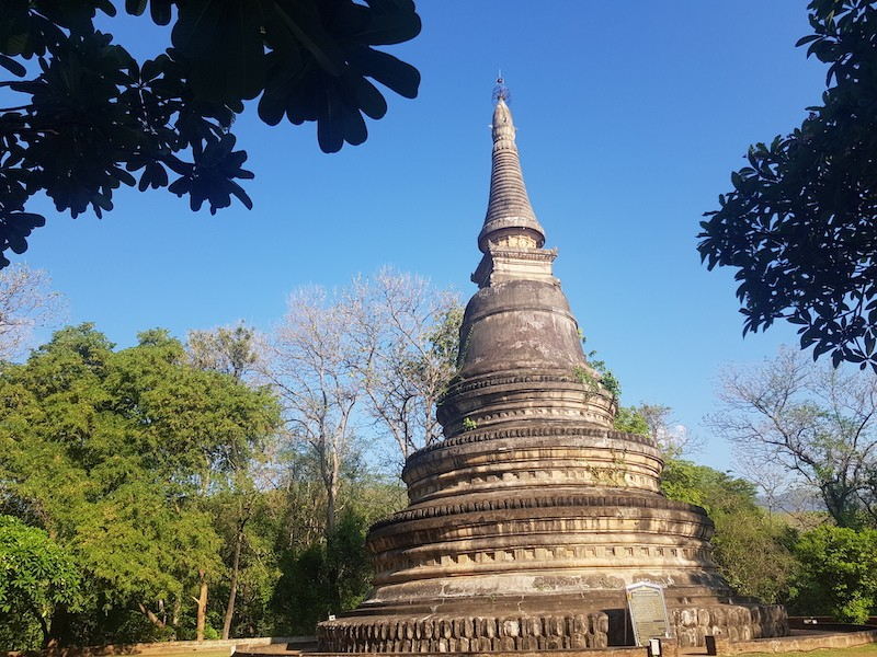 Old chedi in a temple