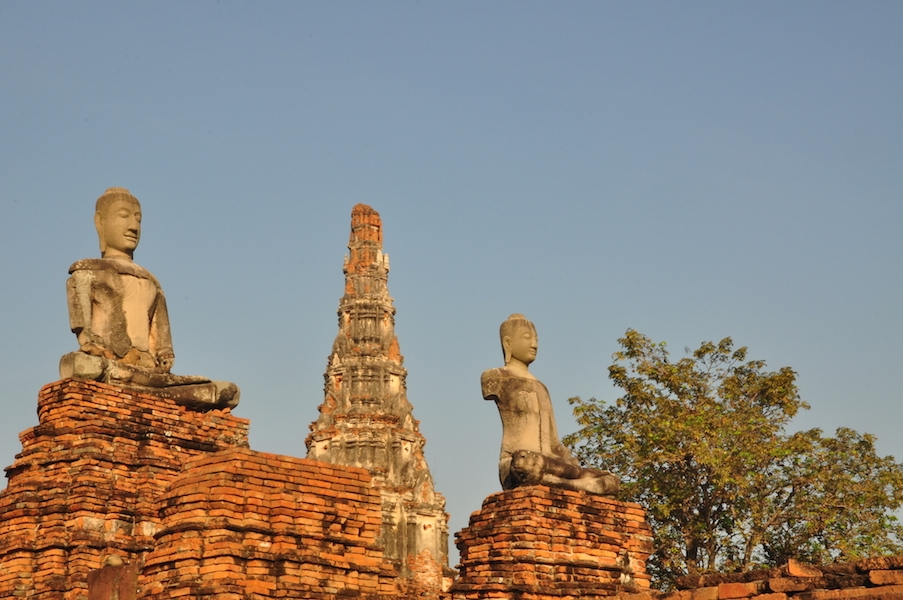 Two Buddha statues and a chedi The Northern Railway Line