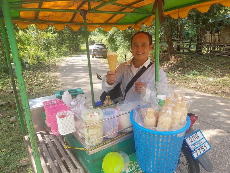 Man selling ice cream