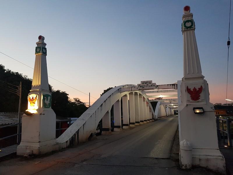 Elegant white bridge