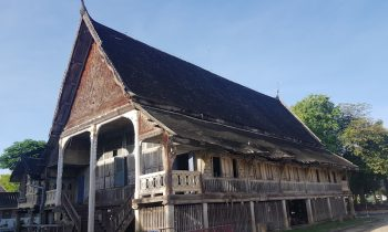 Old wooden temple building