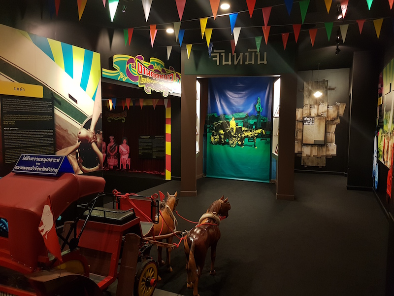 Museum exhibition with horse cart