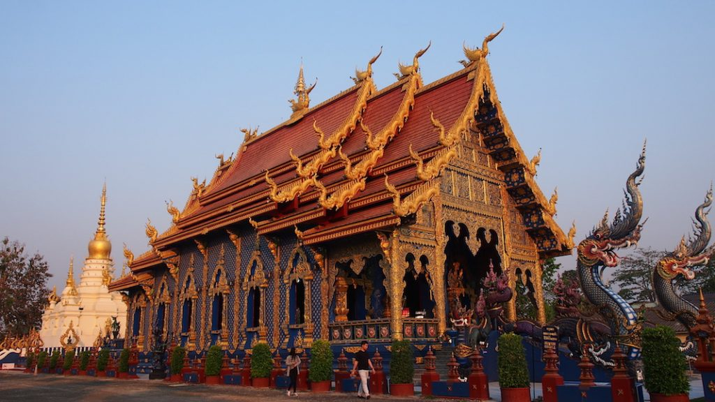 Temple with chedi