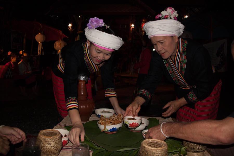 Tai Lue women in traditional dress