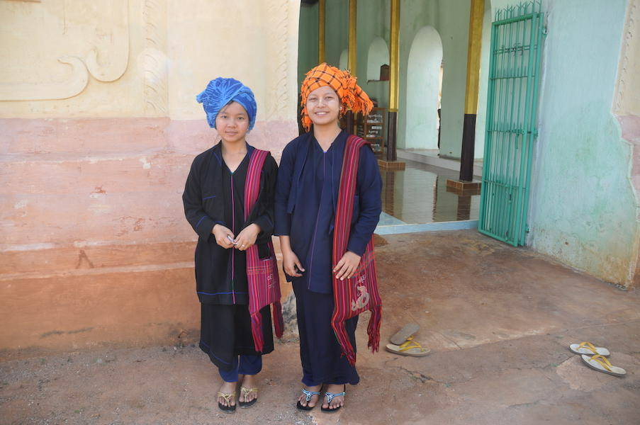 Two girls in local dress